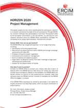 H2020 Project management by ERCIM